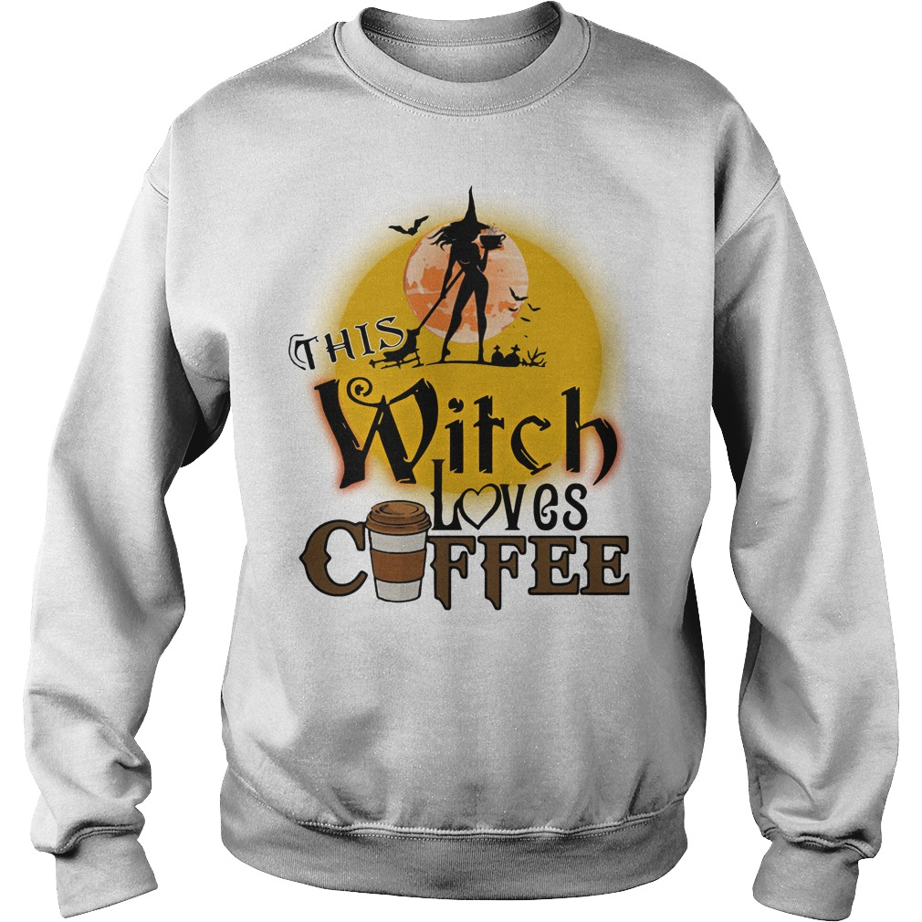 This witch loves coffee Halloween sweater