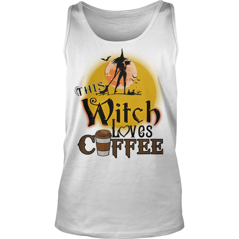This witch loves coffee Halloween tank top