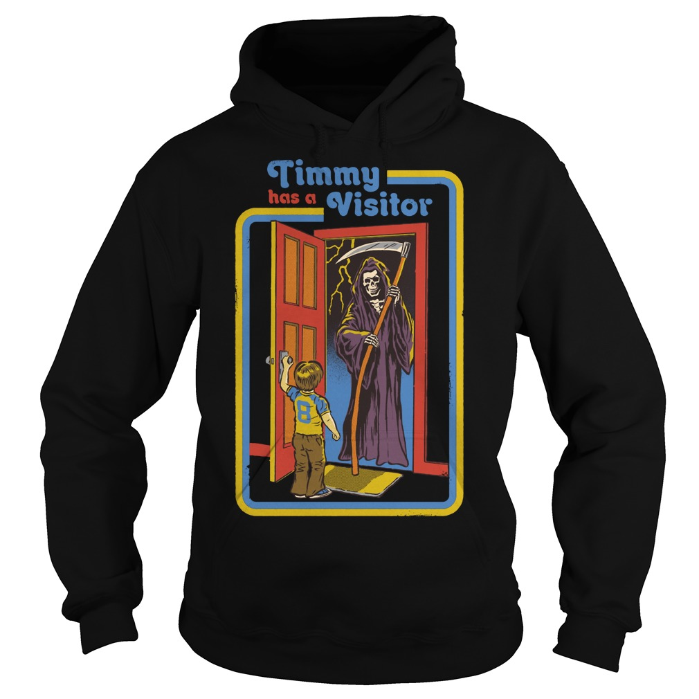 Timmy has a visitor the Death hoodie