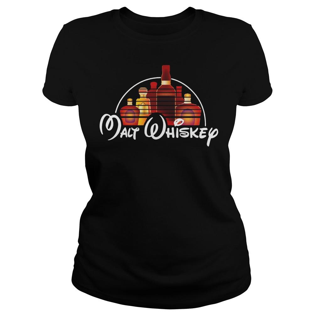 Walt Disney malt whiskey ladies shirt