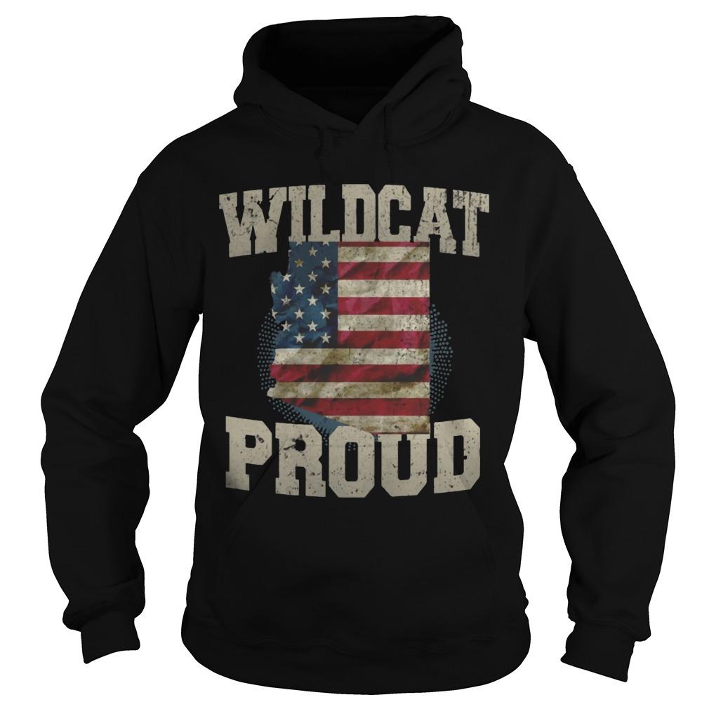 Wildcat Proud Arizona US Flag sports team hoodie