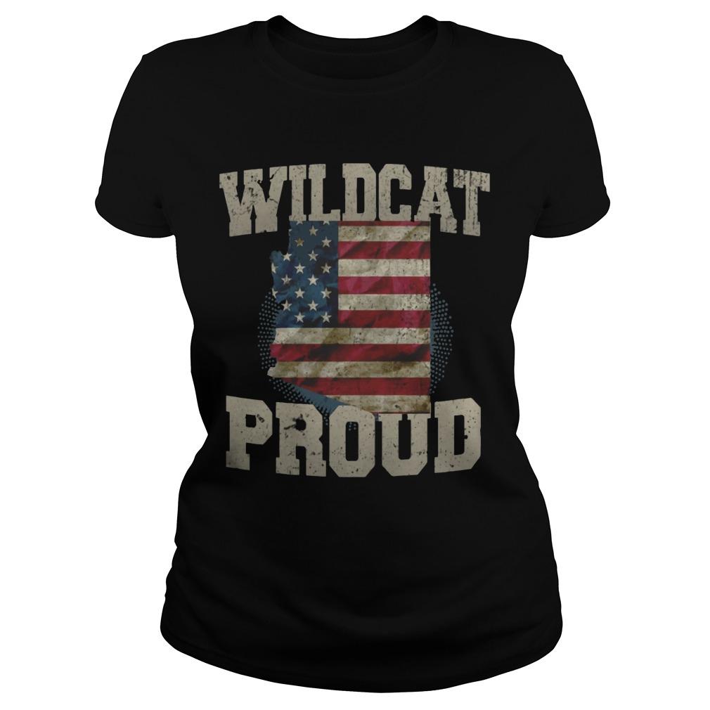 Wildcat Proud Arizona US Flag sports team ladies shirt