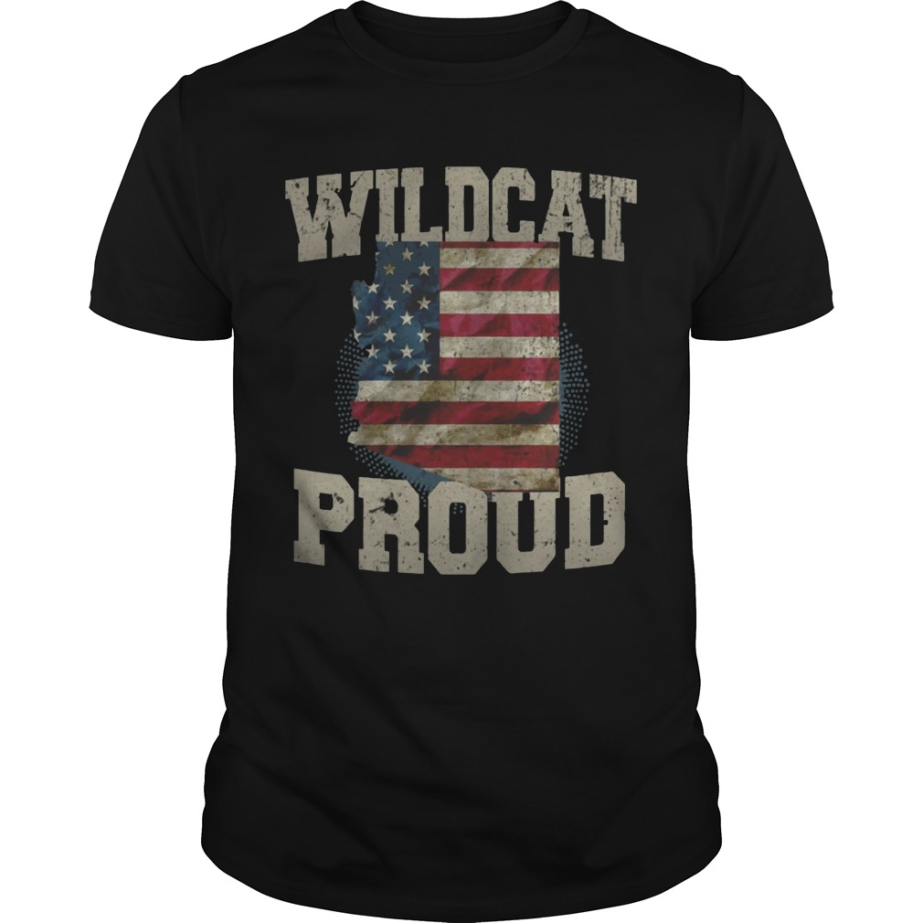 Wildcat Proud Arizona US Flag sports team shirt