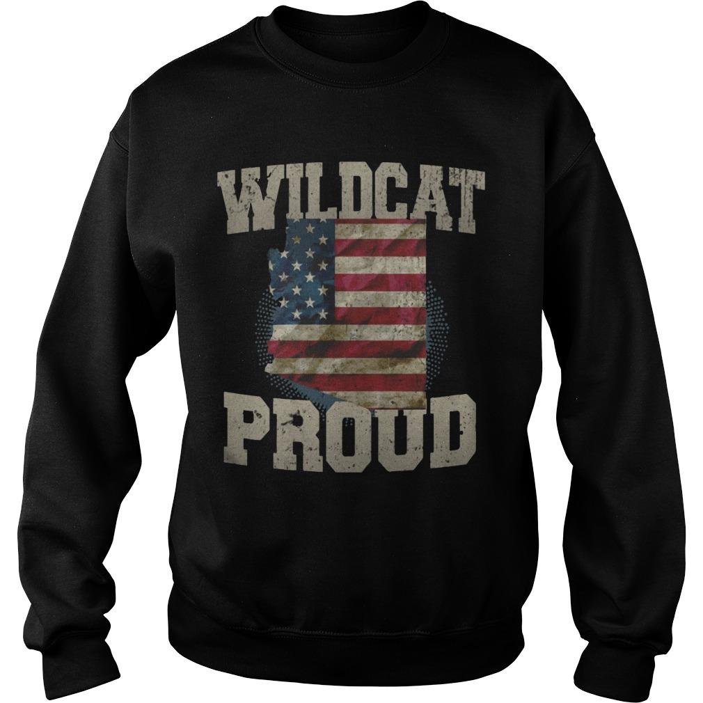 Wildcat Proud Arizona US Flag sports team sweater