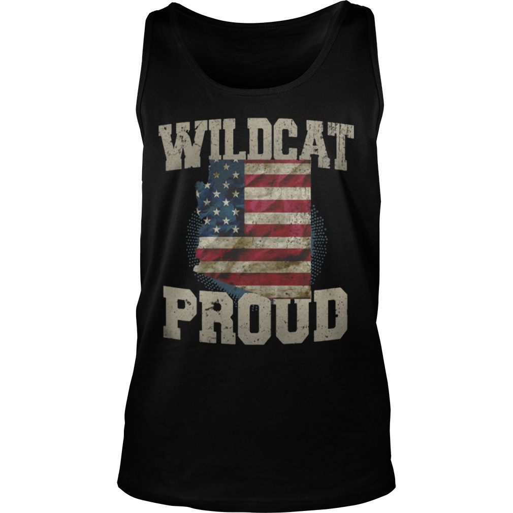 Wildcat Proud Arizona US Flag sports team tank top