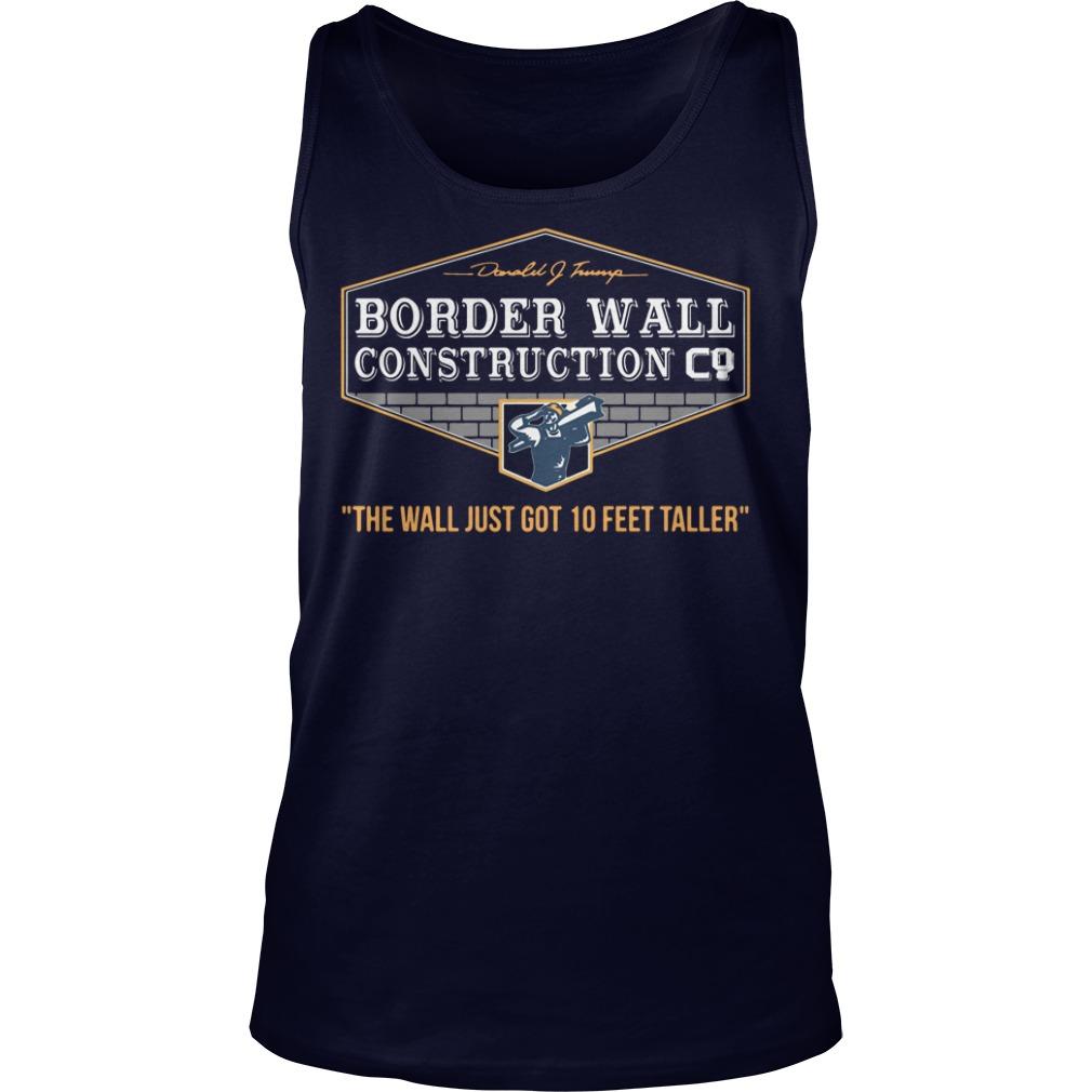 Border Wall Construction Co tank top