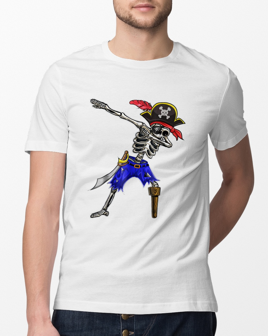 Jack Skeleton Pirate Costume Dabbing Halloween shirt