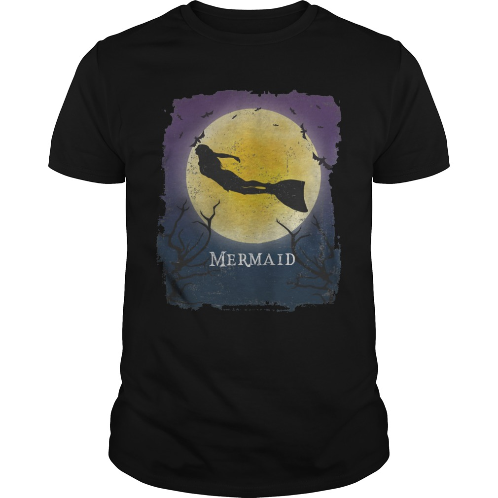 Mermaid Halloween vintage art Mermaid Fantasy shirt