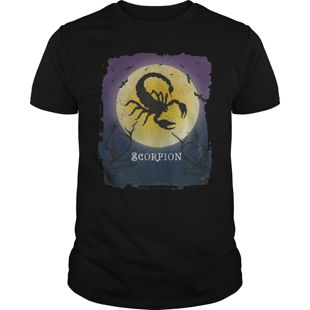 Scorpion Halloween vintage art Arachnid lover shirt
