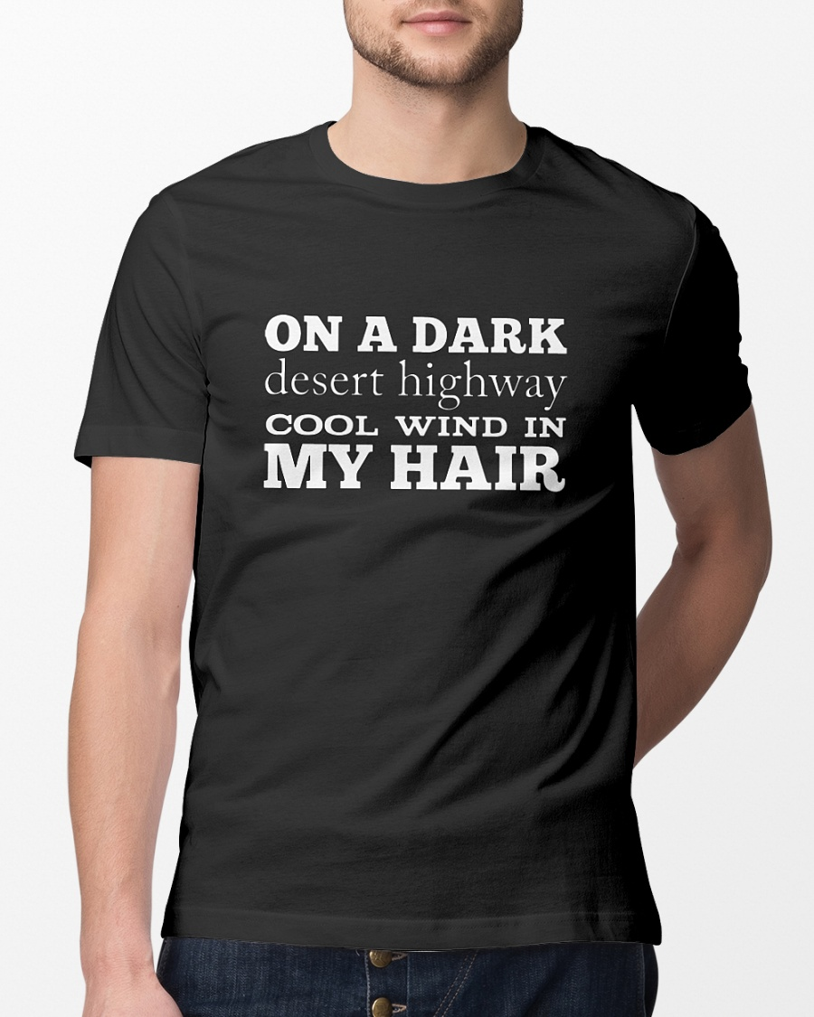 On a dark desert highway cool wind in my hair shirt