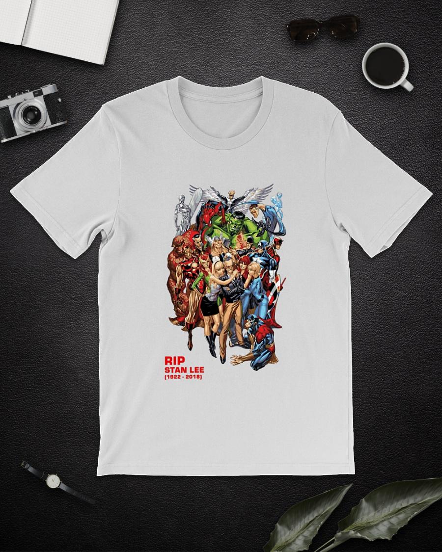 All Marvel Heroes Rip Stan Lee shirt