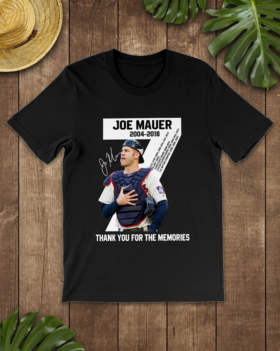 Joe Mauder 2018 thank for the memories shirt