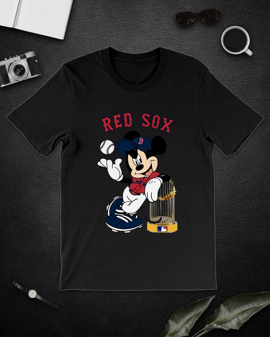 Mickey mouse Boston Rex Sox world Champion shirt