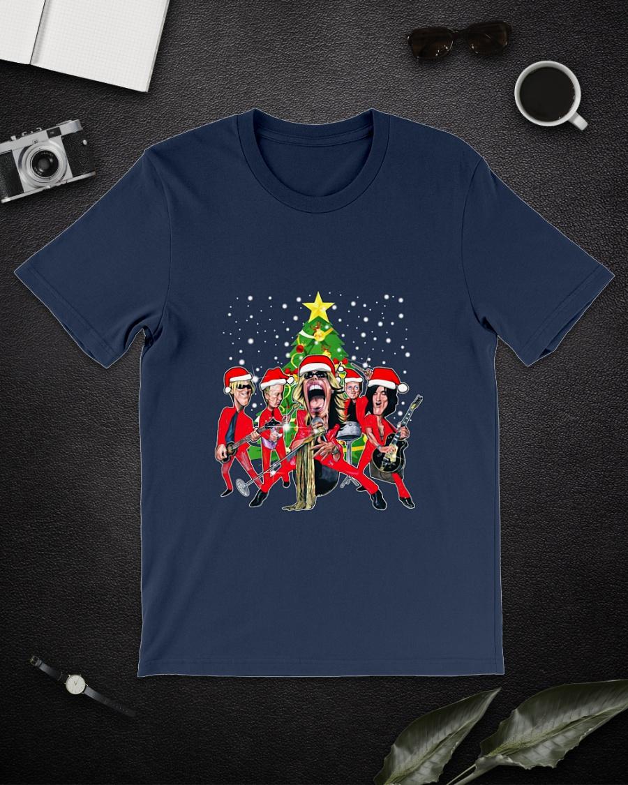 Santa Claus Aerosmith music band Christmas shirt