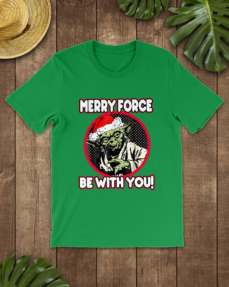 Santa Claus Yoda Merry force be with you shirt