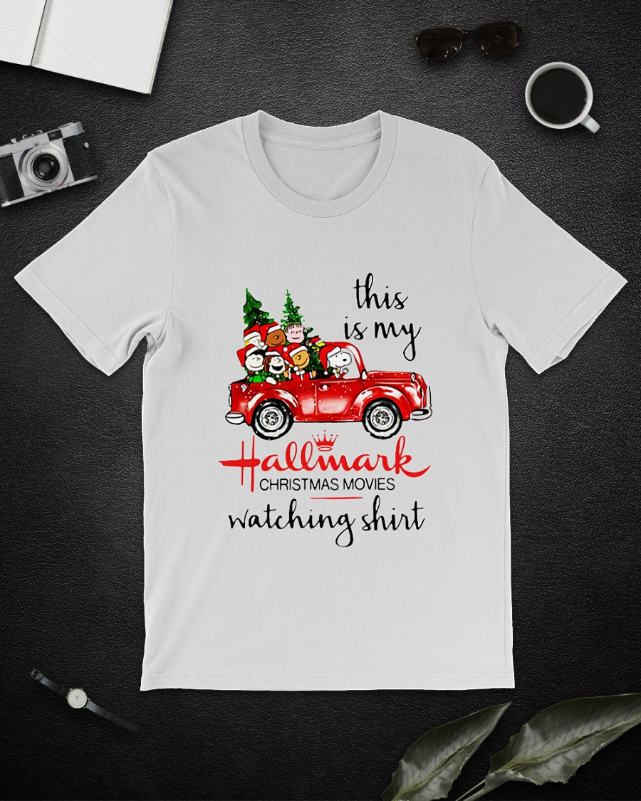 Snoopy and friends this is my Hallmark Christmas movies watching shirt