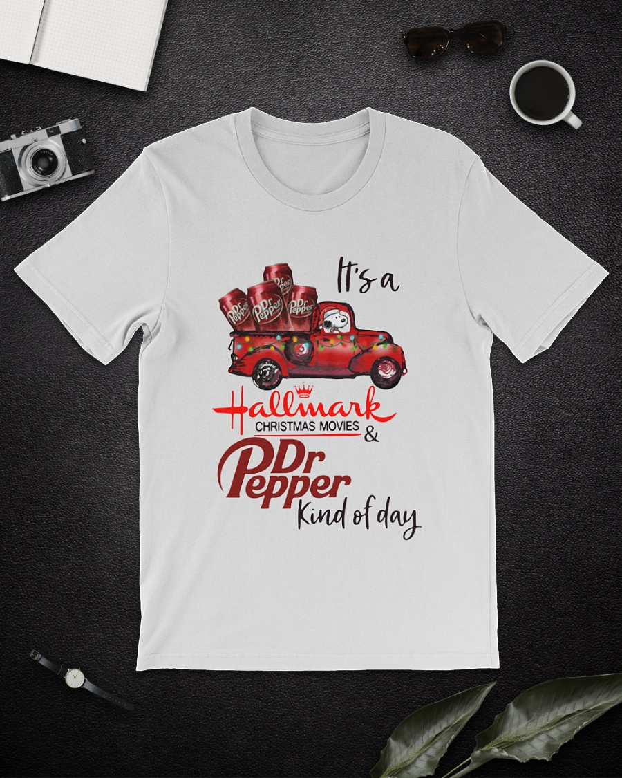 Snoopy It's a Hallmark Christmas movies and Dr.Pepper kind of day shirt