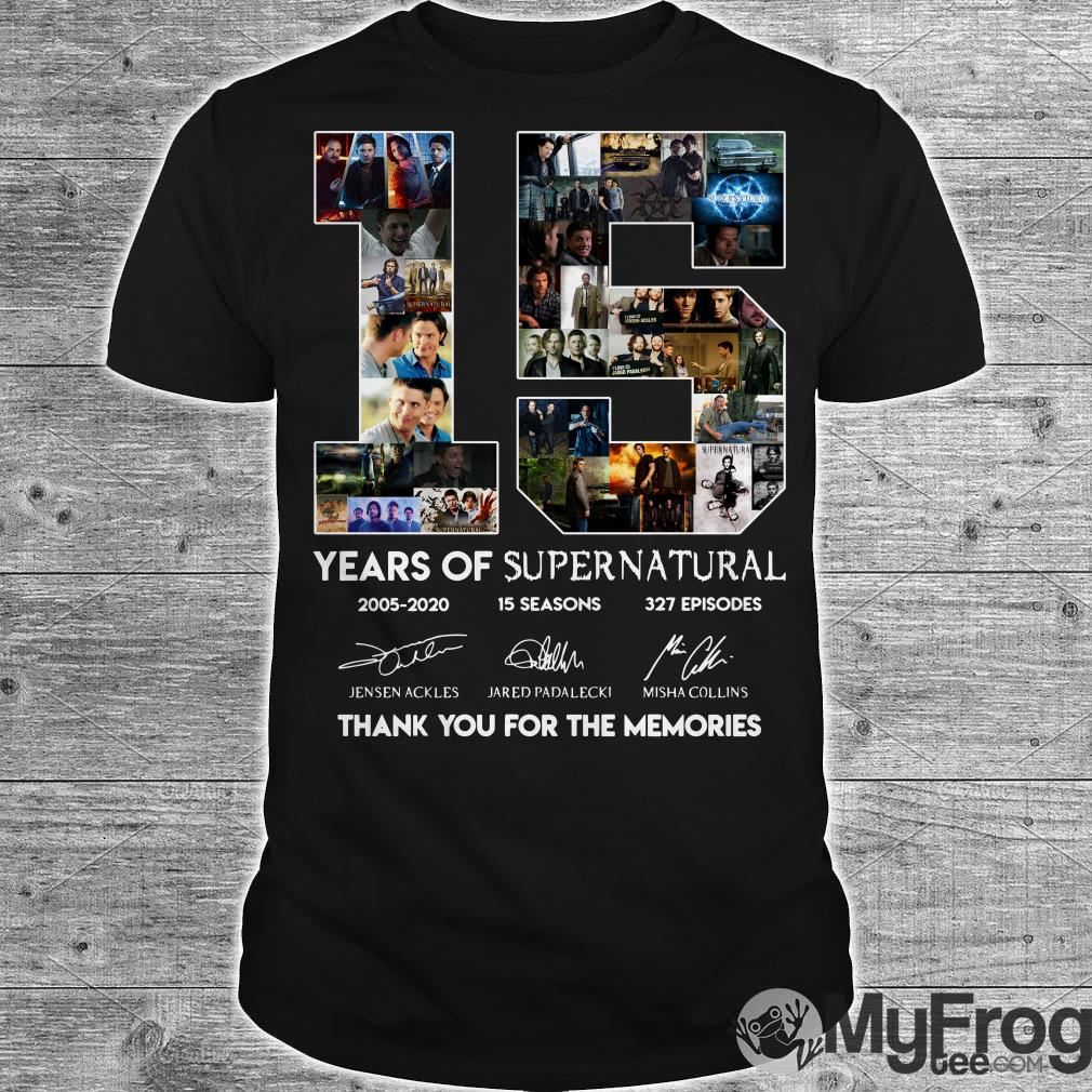 15 years of Supernatural shirt
