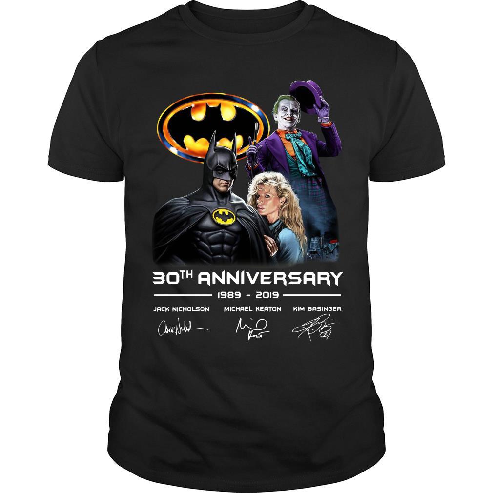 30th anniversary Jack Nicholson Michael Keaton and Kim Basinger 1989 - 2019 shirt