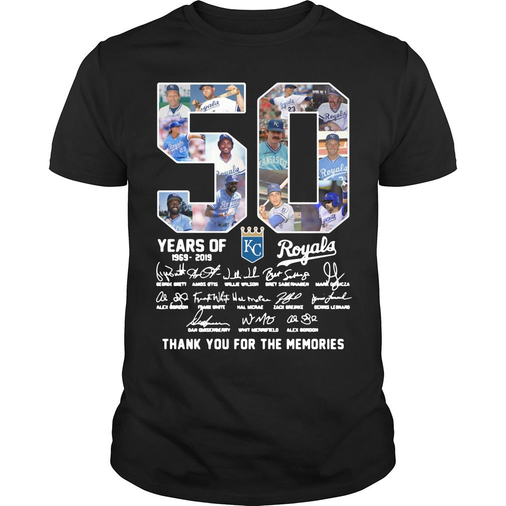 50 Years Of Kc Royals Thank You For The Memories Shirt