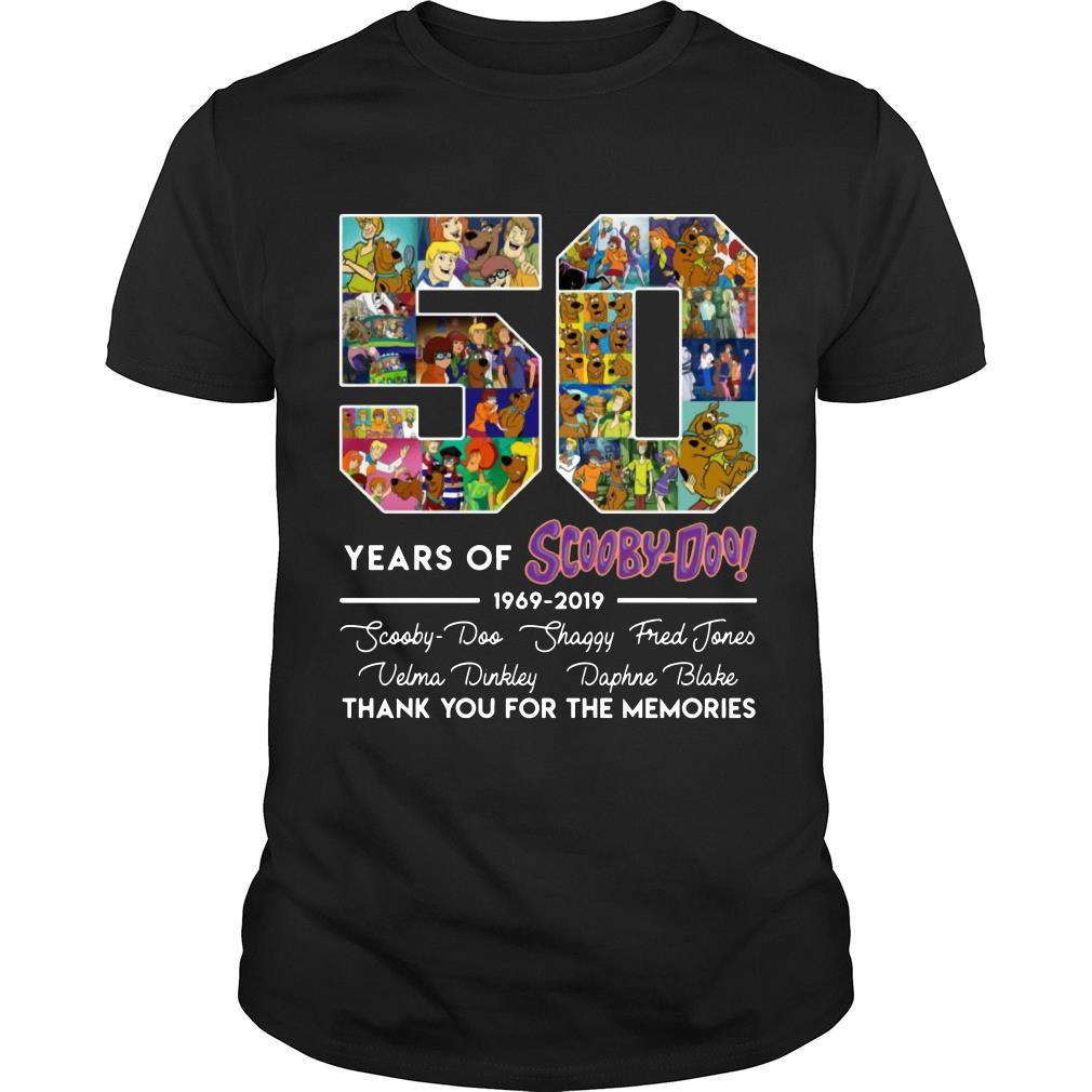 50 Years Of Scooby Doo Anniversary 1969-2019 Thank You For The Memories Shirt