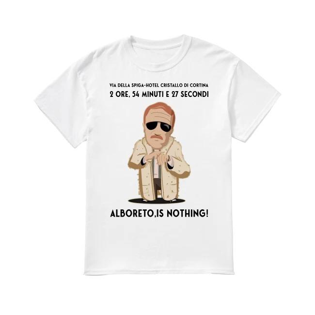 Alboreto is nothing Via della spiga-hotel cristallo di cortina shirt