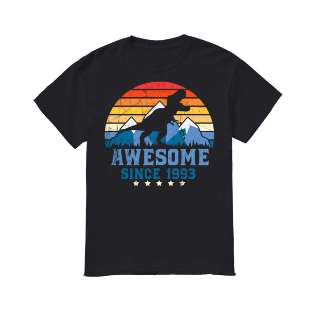 Awesome sunset mountain and dinosaurs since 1993 Shirt