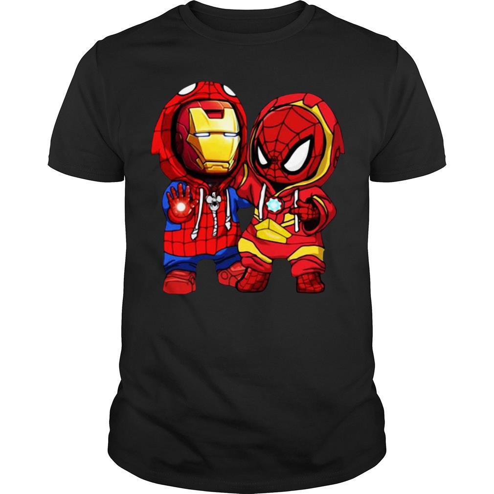 Baby Iron Man And Baby Spiderman shirt