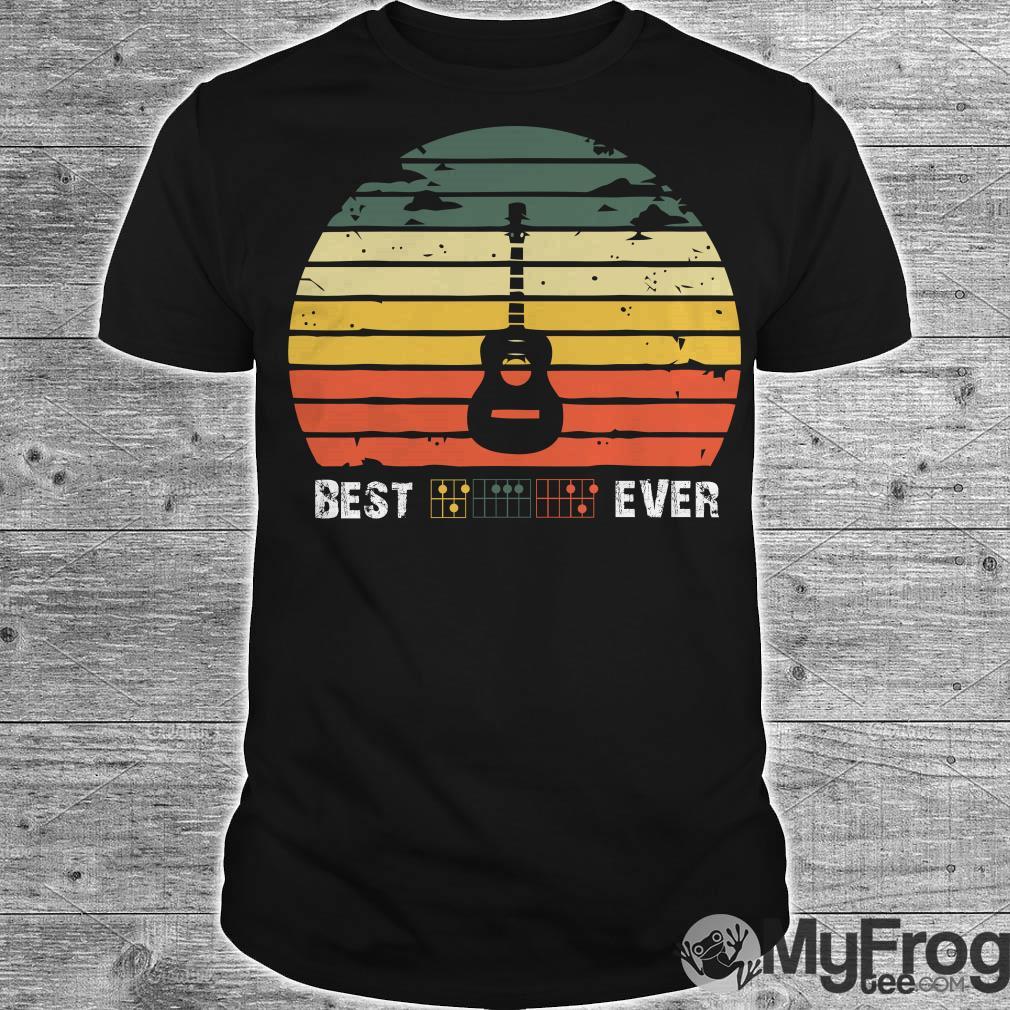 Best guitar ever vintage sunset shirt