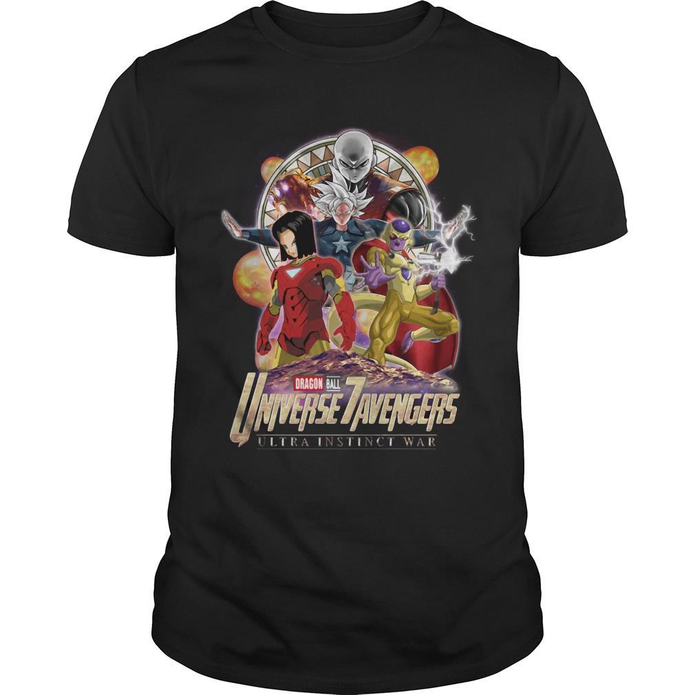 Dragon Ball 7 Universe Avengers ultra instinct war shirt