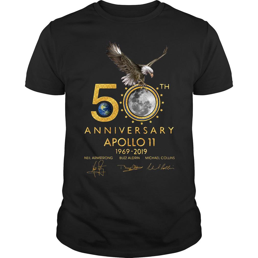 Eagles 50th Anniversary Apollo 11 1969 2019 Signature Shirt