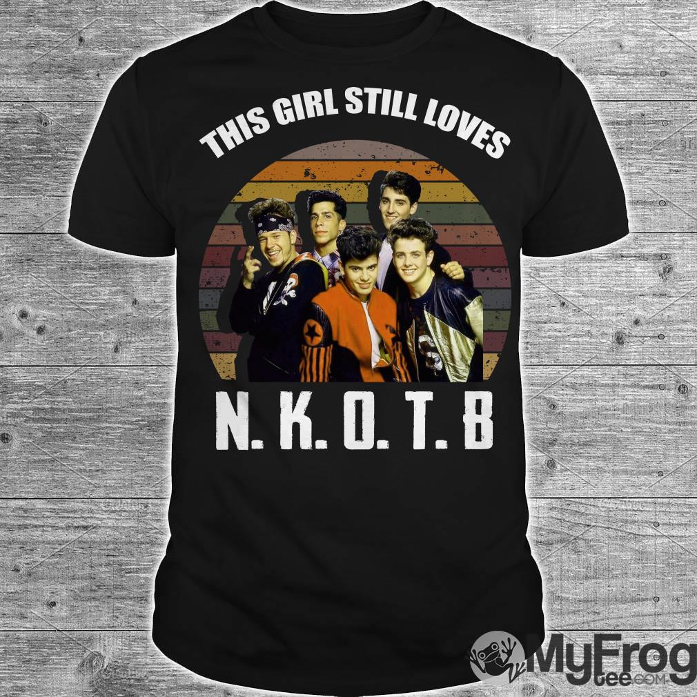 This girl still loves NKOTB vintage sunset shirt
