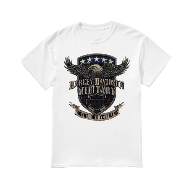 Harley Davidson military honor our veterans shirt