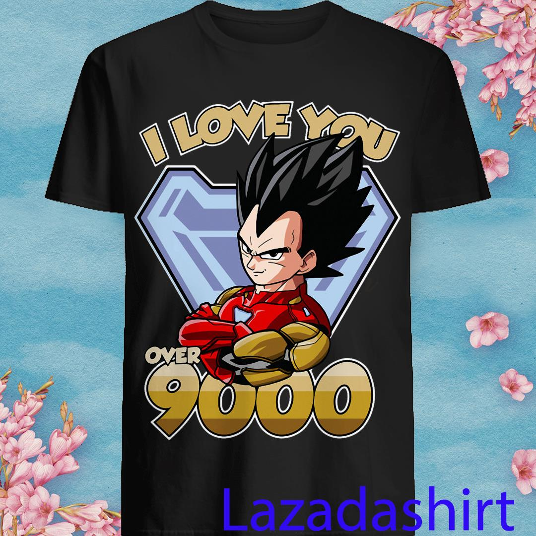 I Love You Over 9000 Dragon Ball Vegeta Shirt
