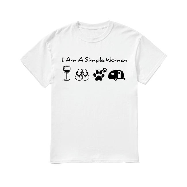 I'm a simple flop dog paw and camping shirt