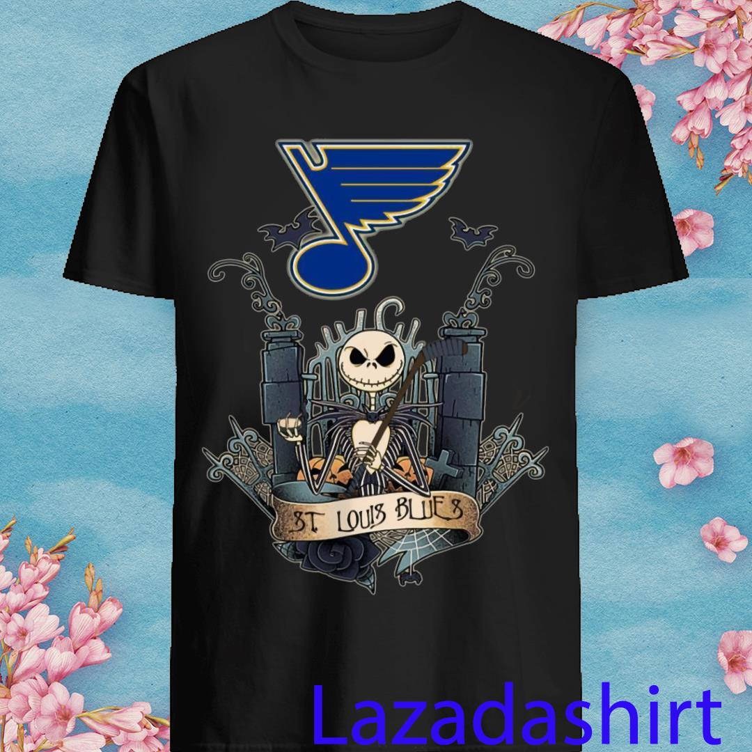 Jack Skellington St Louis Blue Champions 2019 Hockey Shirt