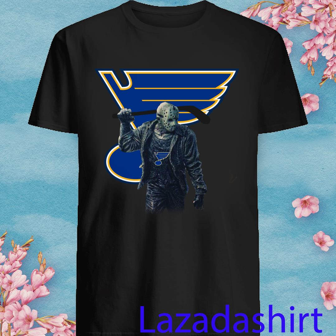 Jason Voorhees St Louis Blues Champions Hockey Shirt