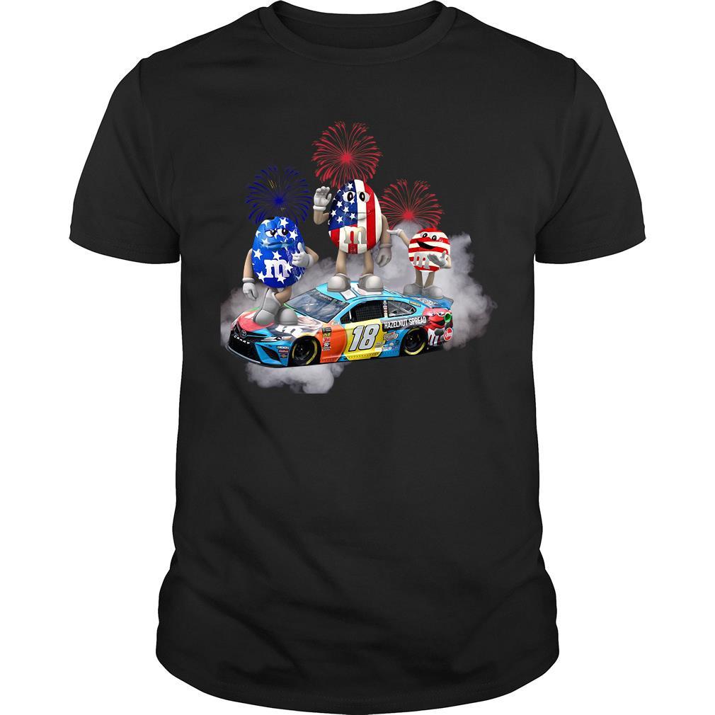 Kyle Busch M'm Flag America 18 Hazelnut Spread Shirt