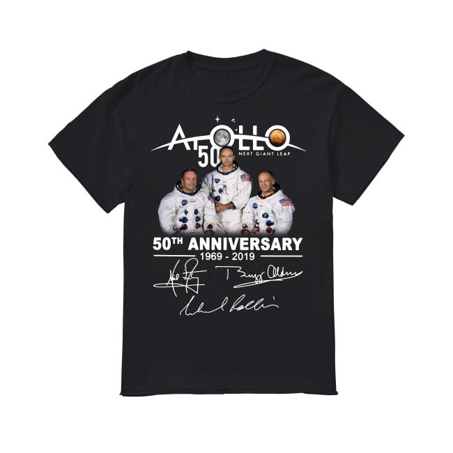 NASA Apollo 50th Anniversary 11 moon landing 1969-2019 signature shirt