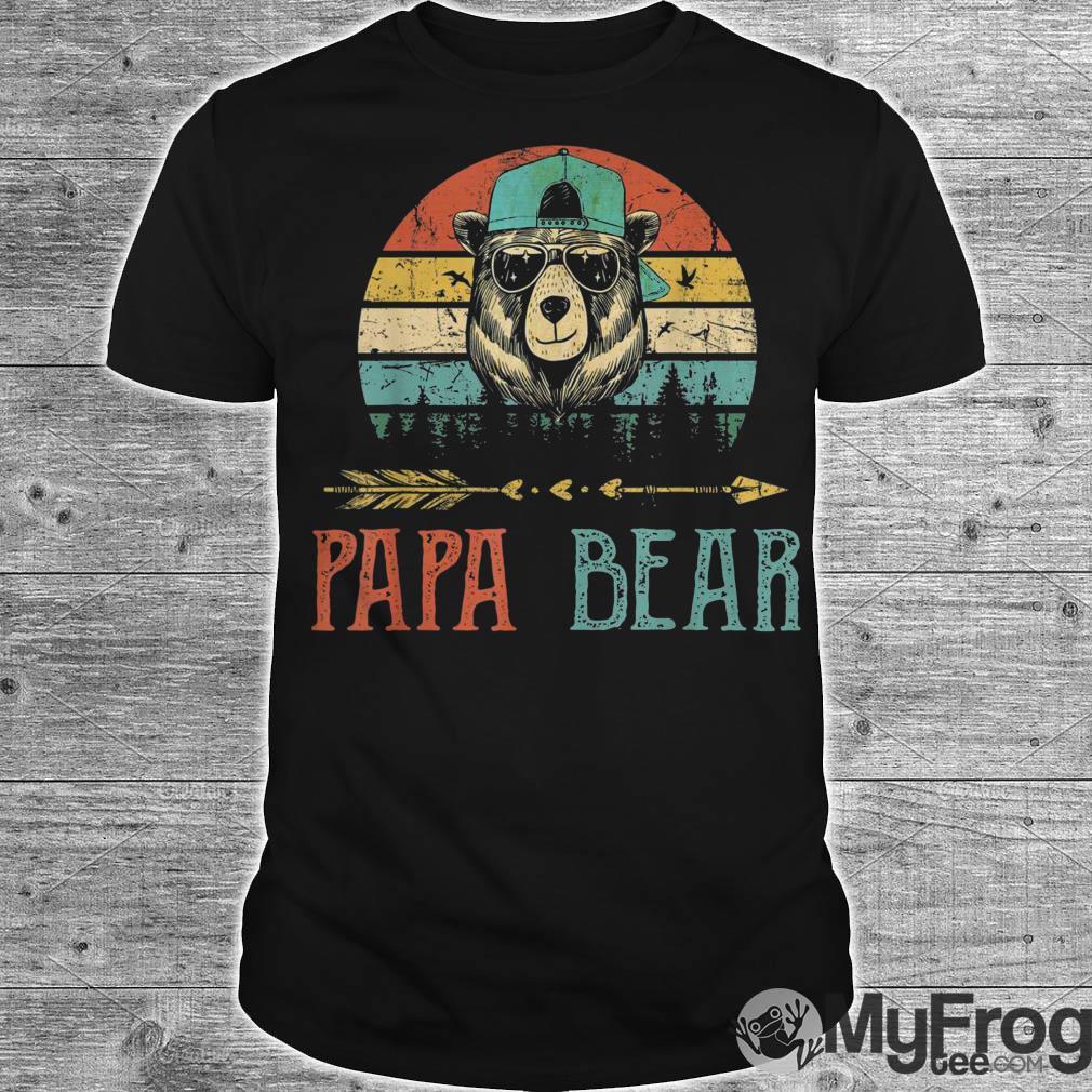 Papa bear vintage sunset shirt