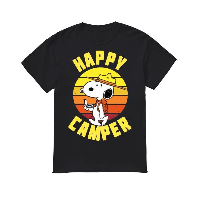 Peanuts Snoopy Happy Camper Vintage shirt