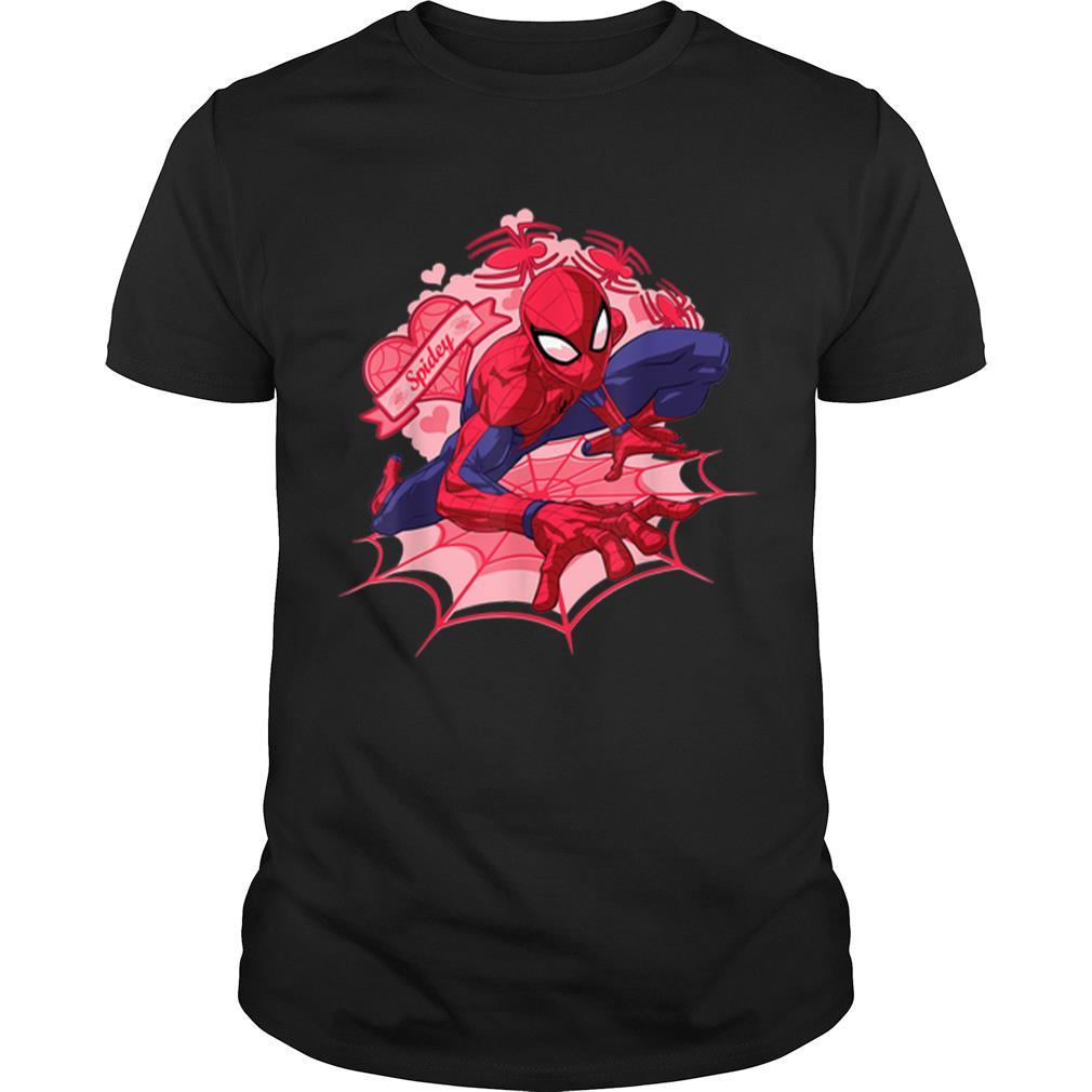 Premium Marvel Spider-man Hearts Valentine's Day Shirt