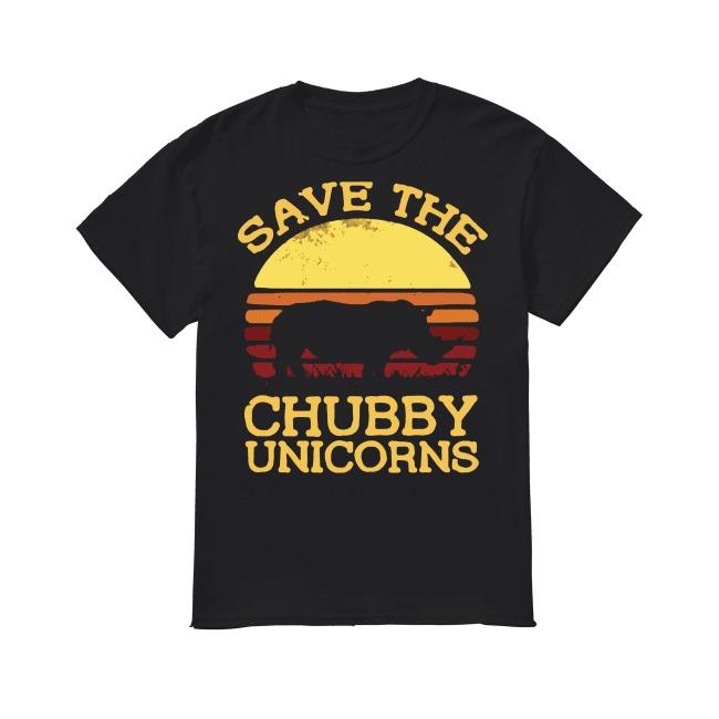 Save the chubby unicorns vintage sunset shirt