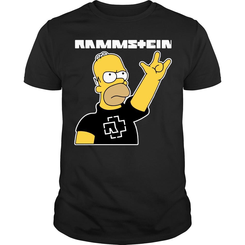 Simpsons rammstein shirt