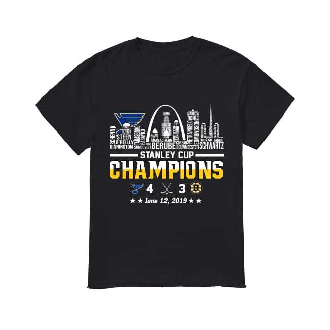 St. Louis Blues 2019 Stanley cup champions team name shirt