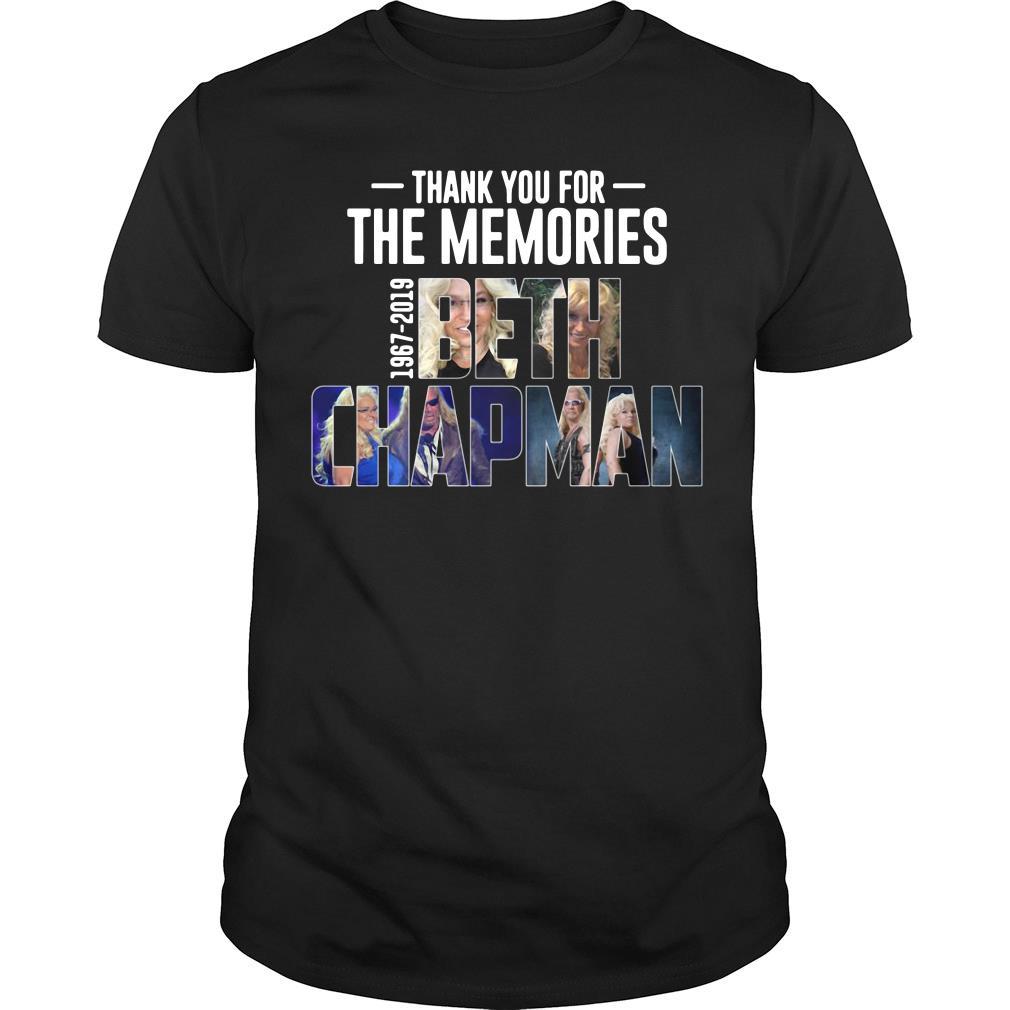 Thank You For The Memories 1967 2019 Beth Chapman Shirt