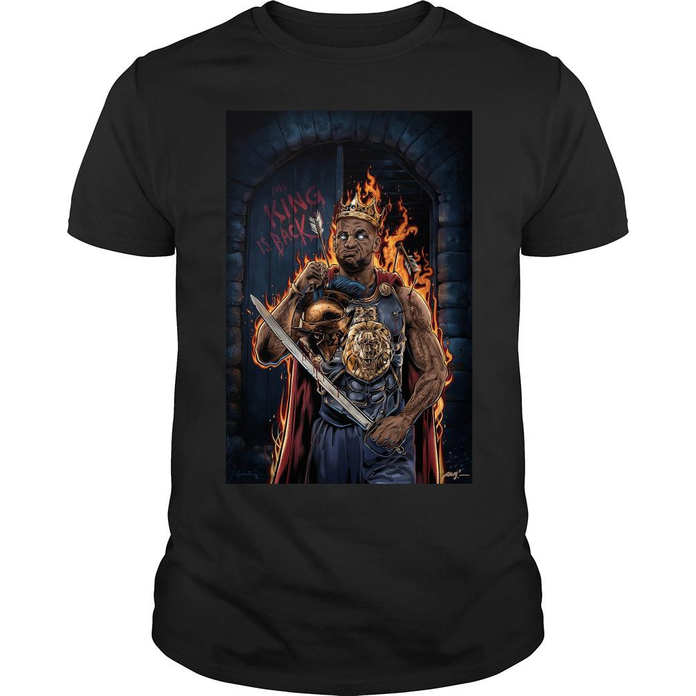 The eagles Lebron James Lakers The king is back shirt-min