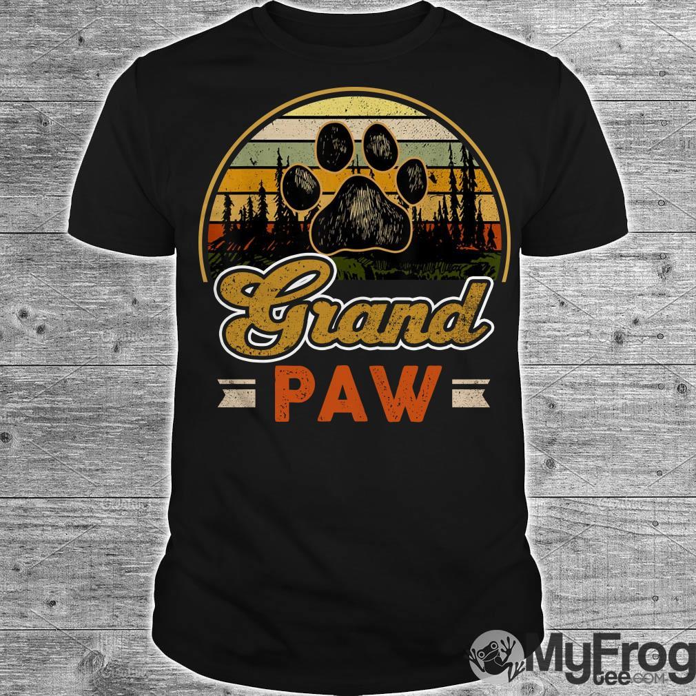 Vintage grand paw dog lover vintage sunset shirt