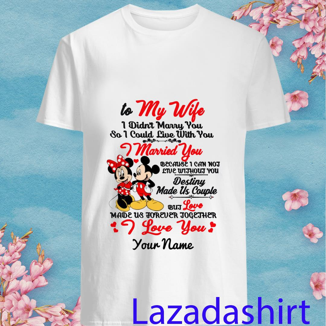 Personalized Name Mickey Minnie Destiny Made Us Couple Shirt