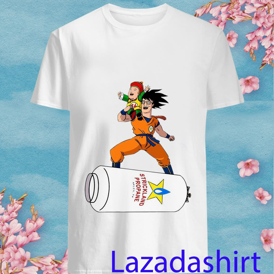 Strickland Propane Gas Cloud Songoku Hank Hill Bobby Hill Dragon Ball King Of The Hill Crossover Shirt